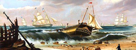 Wreck of the Bristol by Chambers 1840