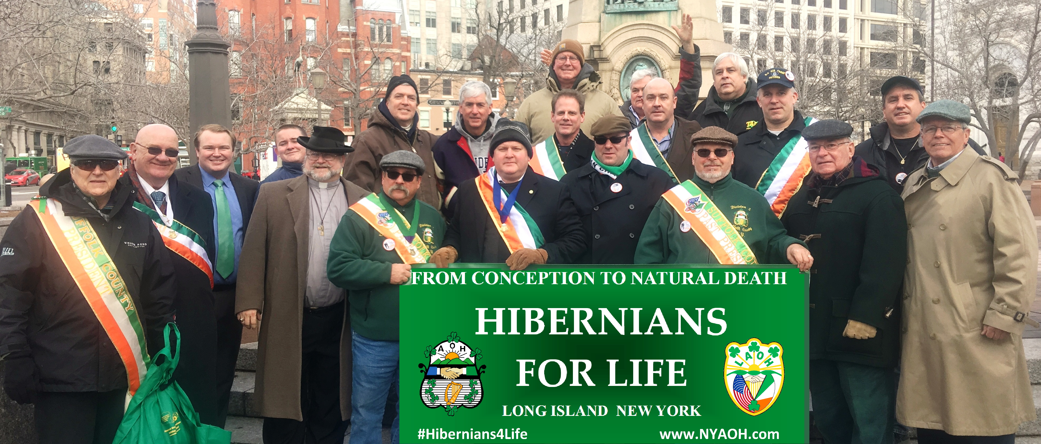 2017 March for Life Washington DC Hibernians District 6 Bus from NY