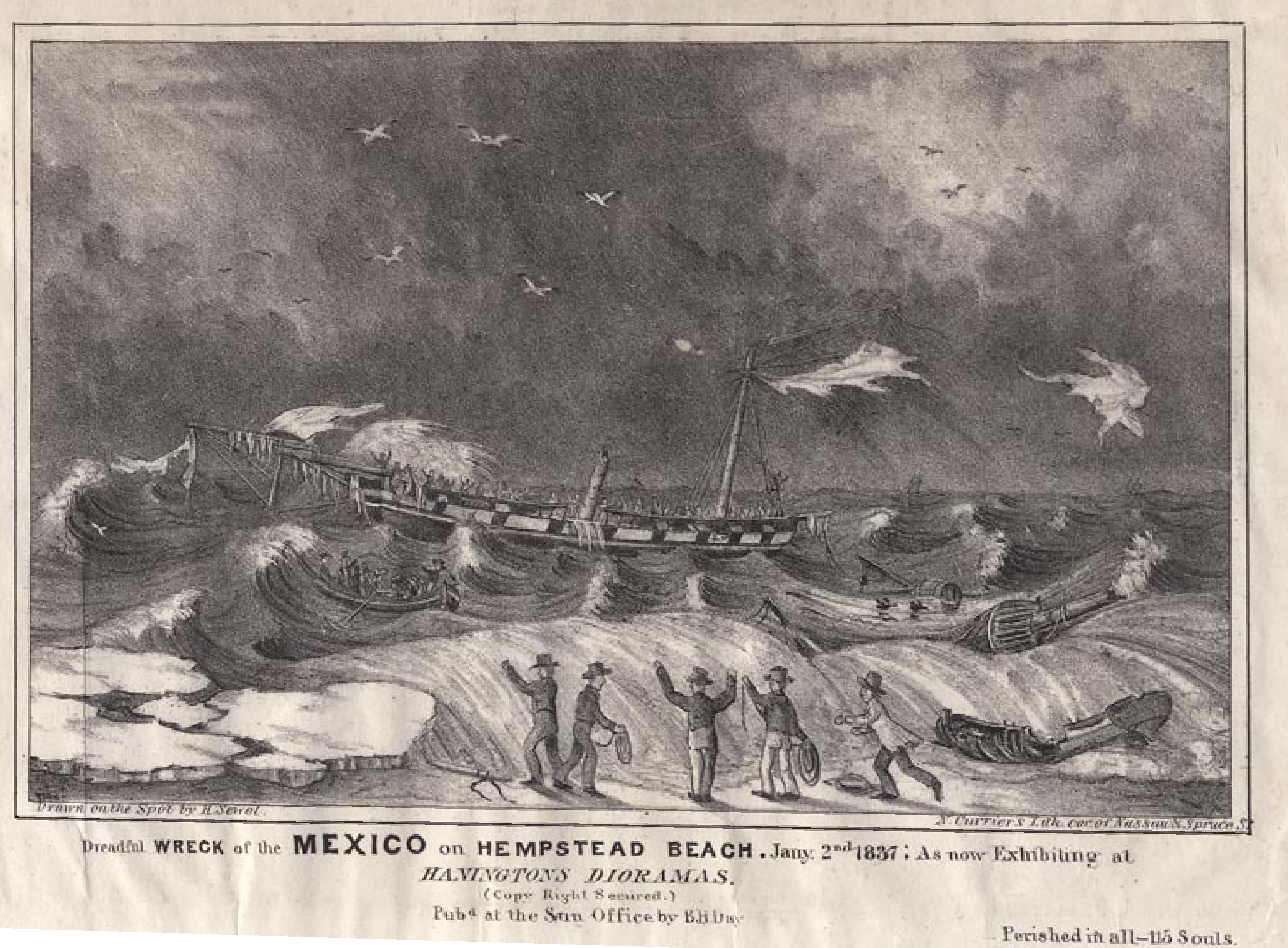 Wreck of the Mexico Currier & Ives